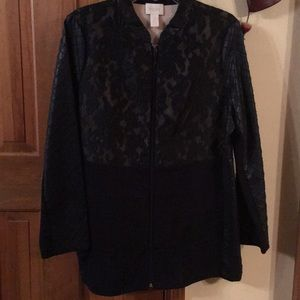 Chicos Lace Topper LS Jacket Size 2